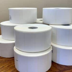 10 rolls of Low Adhesive Labels - 10 Rolls (1,300 Labels/Roll)